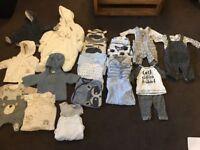 Baby boys clothes bundle first size, newborn