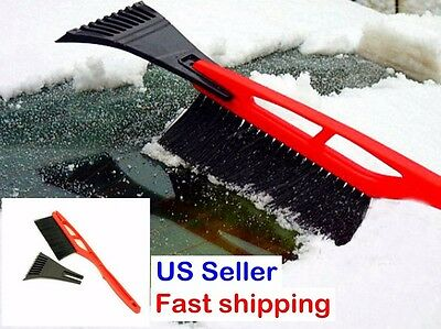 Multipurpose Long Handle Snow Removal Brush Scraper Ice Shovel Car vehicle