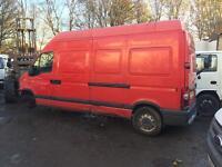 Renault master high top lwb van breaking