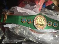 3/4 sized wbc world title boxing championship belt
