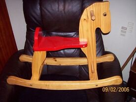 Childs Wooden Rocking Horse