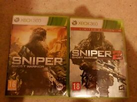 Sniper ghost warrior 1 and 2 xbox 360