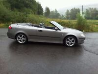 CONVERTIBLE SAAB 9.3 VECTOR 1.8 T 2005. 90,000 MILES WITH LOTS OF RECEIPTS. AN OUTSTANDING EXAMPLE.