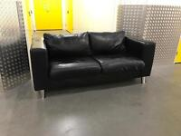 Black leather sofa, Free delivery