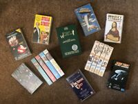 Assorted VHS tapes; mostly UK TV comedy