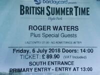 2 Physical Tickets, Roger Waters, July 6th @ BST Hyde Park