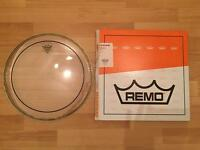 """14"""" Remo Clear Pinstripe - Brand New"""