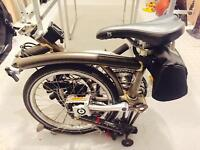 Brompton S Type Folding Bicycle in Raw Lacquer
