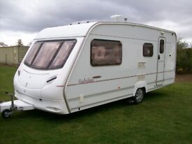 ace jubilee 4 berth 2005 side dinette motor mover awning excellent condition