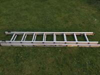 Extendable aluminium extension ladders 3.75m