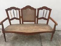 Antique French sofa bench