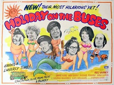 """Holiday On the Buses 16"""" x 12"""" Reproduction Movie Poster Photograph"""