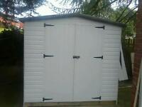 Shed workshop 8x8 foot pvc and timber frame
