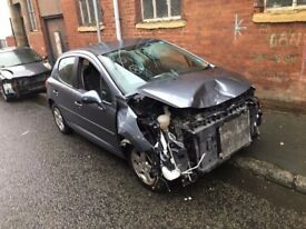 PEUGEOT 207 GREY 8FS DAMAGED SALVAGE BREAKING SPARE PARTS 2006-2012