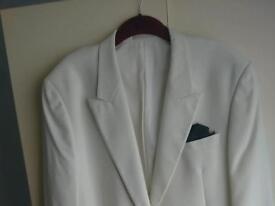 Men's white tuxedo