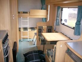 lunar zenith 6 berth fixed rear bunk beds 2 nearly new awnings very lightweight only 1045kg