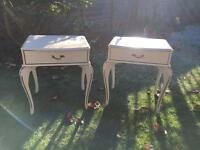 Pair matching vintage bedside tables