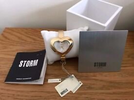 Brand New Ladies Gold Heart shape storm watch. Great Christmas gift Stocking Filler