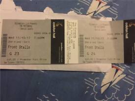2x pair Pretenders tickets