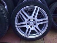 Mercedes Genuine Amg SINGLE Alloy FRONT OR REAR 8J 8.5J 9J 1x wheel + Tyre CAN POST