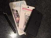 New iPhone 5c case/ tempered glass screen cover/ stylus