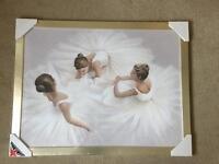 Ballet Dancer picture in frame Brand New