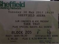 2x Take That (with All Saints) Tickets, Sheffield Arena + parking, Tues 30th May