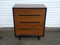 Stag vintage midcentury walnut chest of drawers