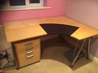 Ikea Desk with draws