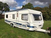 2006 FENDT PLATIN 6/7 BERTH *FIXED BED* *FIXED BUNKS* TWIN AXLE TOURING CARAVAN