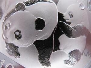 1 Troy Oz Pure 999 Silver Detailed 2008 Panda Baby China