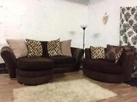 New corner sofa with swivel chair**Free delivery**