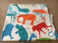 Cot bed bedding multi colour pillow quilt cover animals