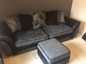Grey/Black Sofa