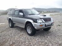 Mitsubishi L200 2.5TD 4LIFE 4WD mot,d end jan drives well rear canopy 16 in alloys