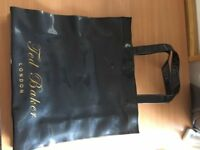 ted baker black/gold bag