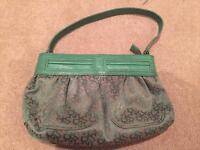 DKNY green handbag