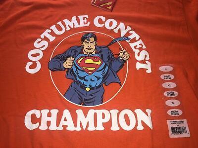 Superman Mens Tshirt XL Costume Contest Champion Halloween DC Comics Clark Kent