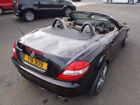 Black Mercedes SLK 350