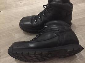 Timberland junior black leather boots