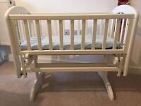 John Lewis Anna Glider Crib, White