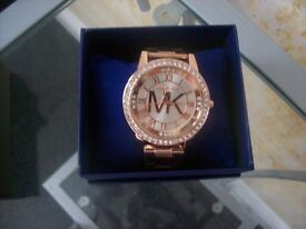 mk style watch rose gold