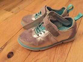 Clarks girls trainers infant 7.5