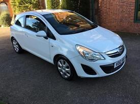 2012 12 PLATE VAUXHALL CORSA 1.3 CDTI 16V EXCLUSIVE WITH £0 ZERO COST ROAD TAX PER YEAR