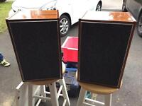 Pair Of Speakers / Cabinets Real Wood