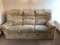 GPlan 3 seater sofa & 2 chairs