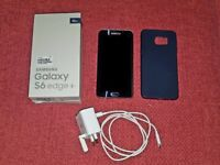 Black Samsung Galaxy S6 EDGE PLUS + cover, unlocked and 6 months warranty. GREAT CONDITION