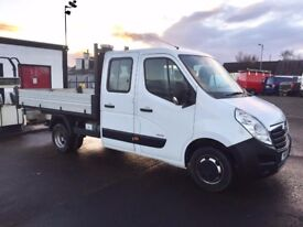 14 Vauxhall Movano 3500 Double Cab Dropside Alloy Tipper