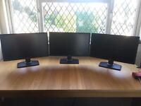 """3 x 27"""" Dell U2713HM Monitors"""