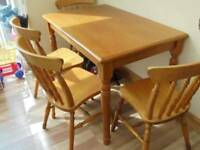 Pine dining table only
